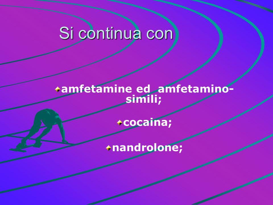 Alcuni tipi di DIURETICI Gonadrotropina SomatotropinaTretacosactide Eritropoietina
