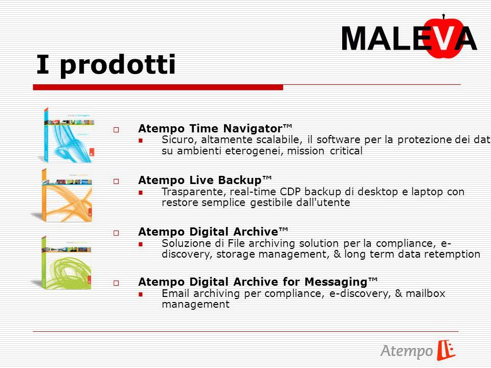 I prodotti Atempo Time Navigator Sicuro, altamente scalabile, il software per la protezione dei dati su ambienti eterogenei, mission critical Atempo L
