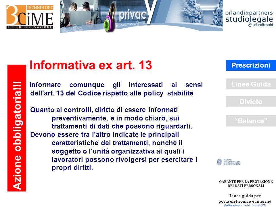 Linee guida per posta elettronica e internet (Deliberazione n.