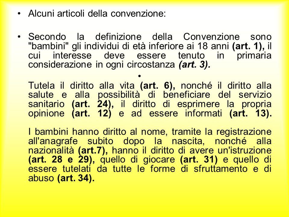 -Diritto alla considerazione come preminente dellinteresse del minore nei procedimenti amministrativi e giudiziari (art.