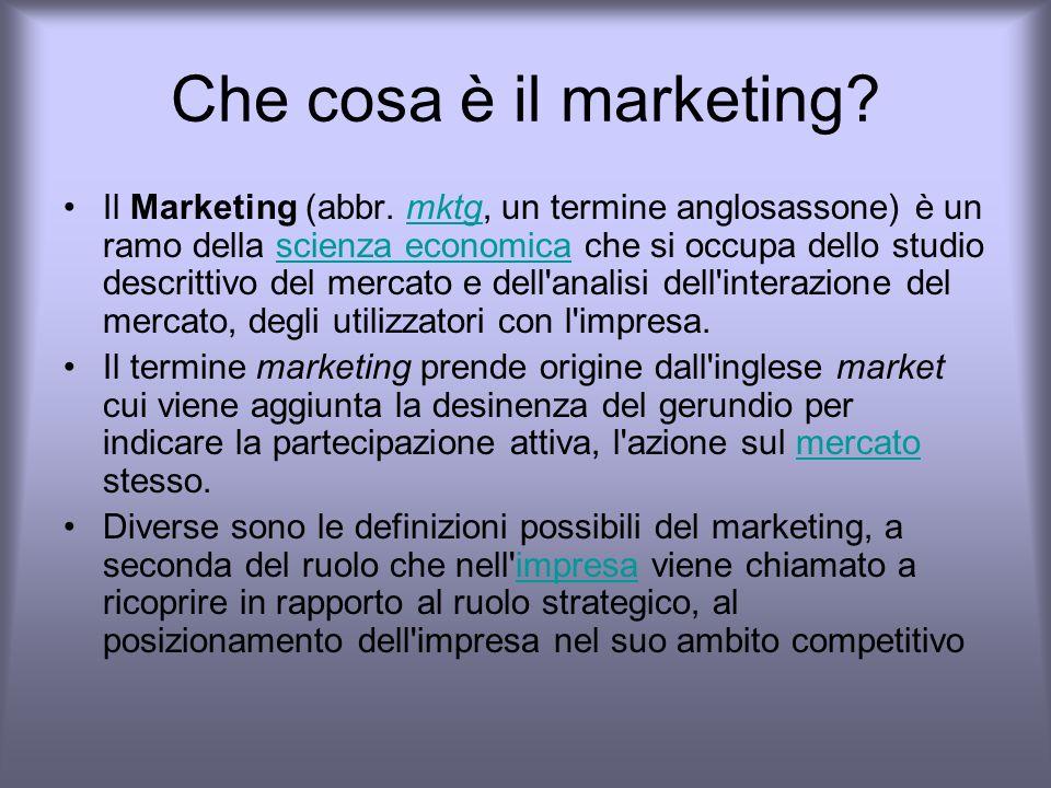 Che cosa è il marketing.