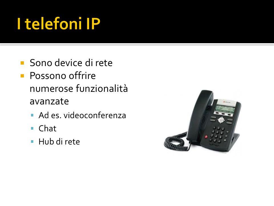 Sono device di rete Possono offrire numerose funzionalità avanzate Ad es. videoconferenza Chat Hub di rete