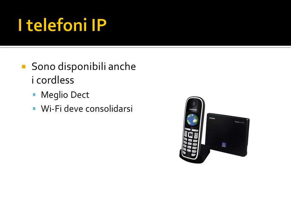 Sono disponibili anche i cordless Meglio Dect Wi-Fi deve consolidarsi