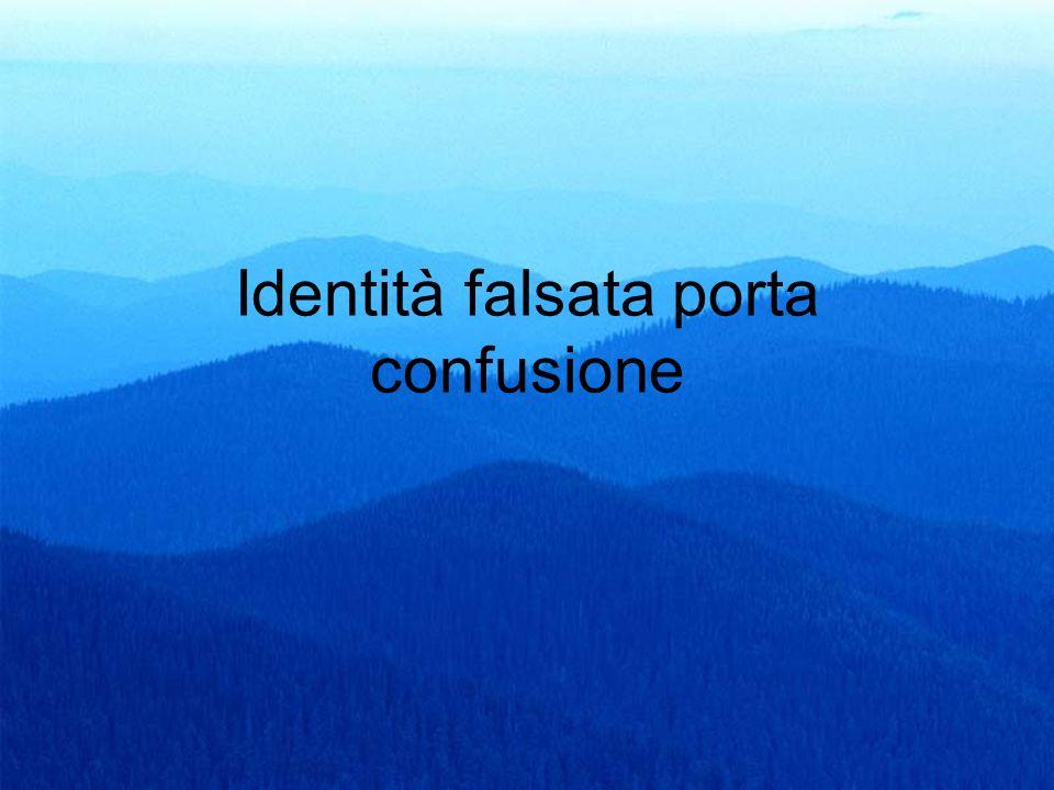 38 Identità falsata porta confusione