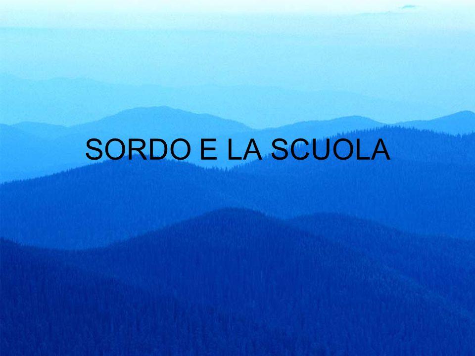 54 SORDO E LA SCUOLA