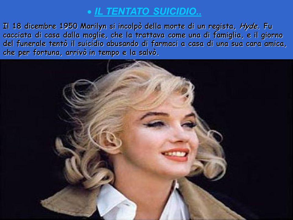 Nel film Orchidea Bionda oltre che a recitare, Marilyn cantò per la prima volta due canzoni previste nel film. E CANTO.. Seguì dei corsi di recitazion