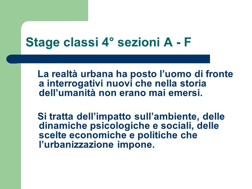 Stage classi 4° sezioni A - F Per affrontare la tematica è necessario precisare alcuni concetti.