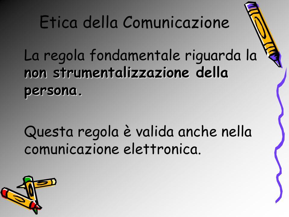 Etica della Comunicazione Il controllo nella rete: le due facce della stessa medaglia.