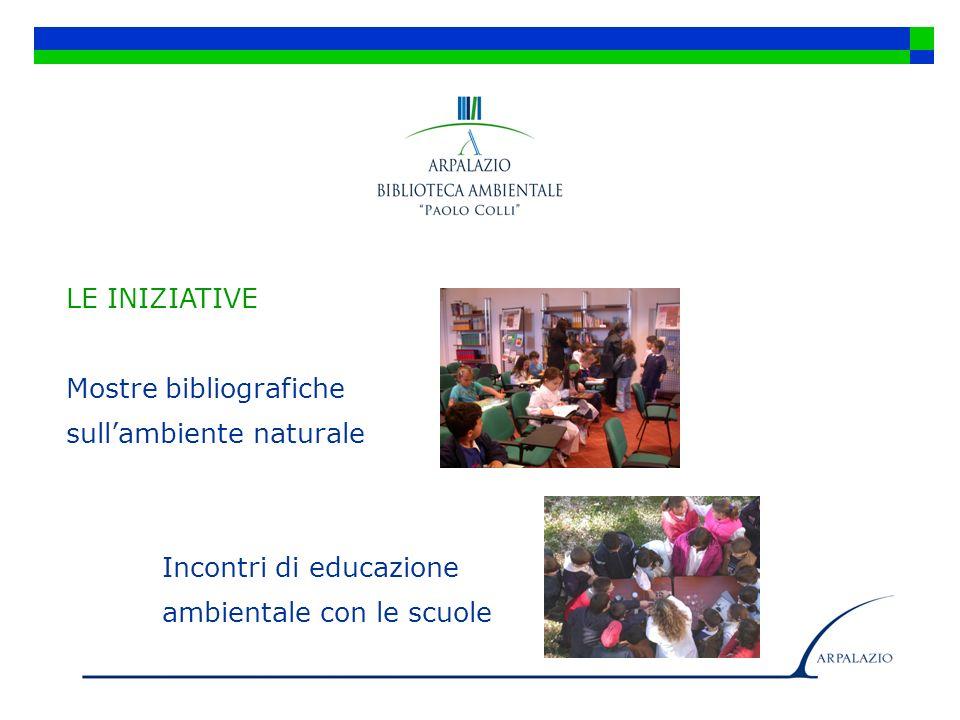 LE INIZIATIVE Mostre bibliografiche sullambiente naturale Incontri di educazione ambientale con le scuole