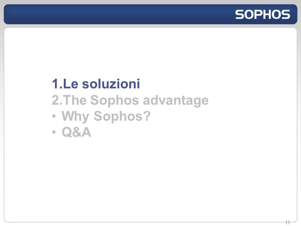 11 1.Le soluzioni 2.The Sophos advantage Why Sophos? Q&A