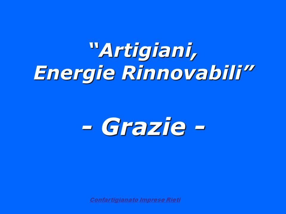 Artigiani, Energie Rinnovabili - Grazie -