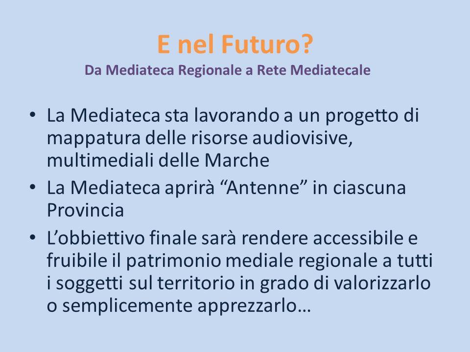 E nel Futuro? La Mediateca sta lavorando a un progetto di mappatura delle risorse audiovisive, multimediali delle Marche La Mediateca aprirà Antenne i
