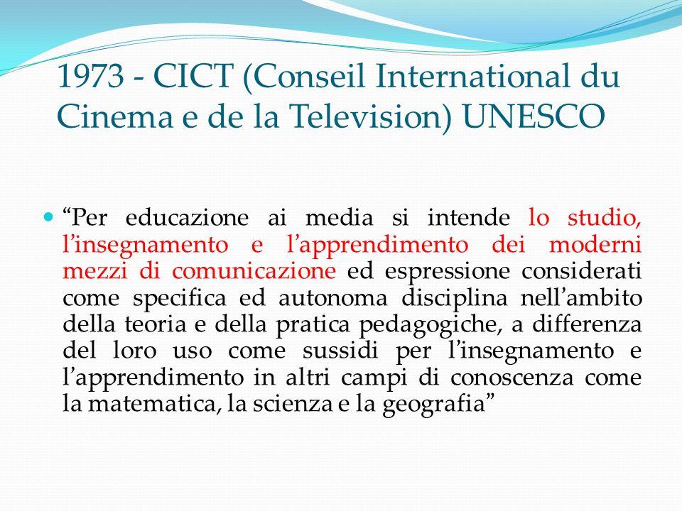 CHE COSÈ LA MEDIA EDUCATION Attività educativa e didattica Processo di insegnamento e apprendimento centrato sui media Processo di analisi e produzione di media NON è linsegnamento delle tecnologie!!!