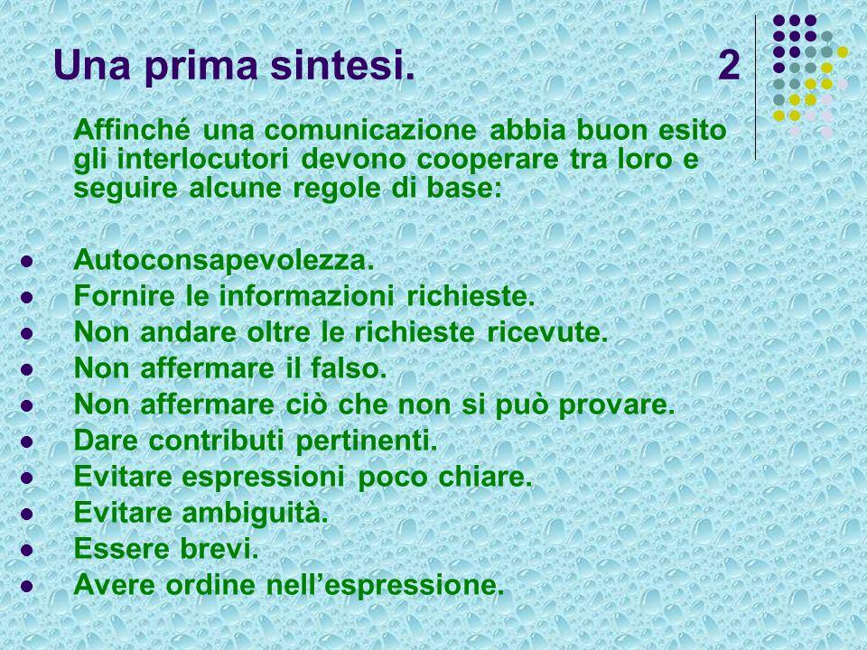 Una prima sintesi. 2 Affinché una comunicazione abbia buon esito gli interlocutori devono cooperare tra loro e seguire alcune regole di base: Autocons