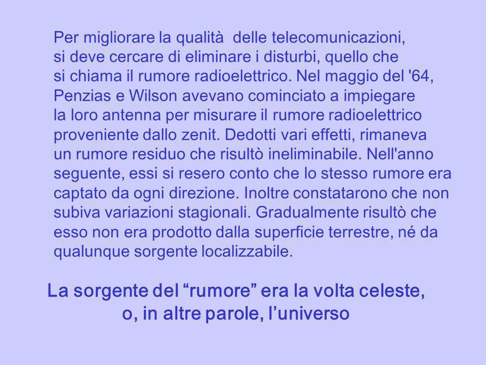 Per migliorare la qualità delle telecomunicazioni, si deve cercare di eliminare i disturbi, quello che si chiama il rumore radioelettrico. Nel maggio