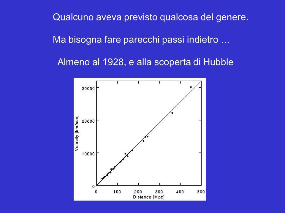 Nel 2001, il telescopio spaziale Hubble individuò una supernova remota che indicava uno scostamento dalla legge di Hubble comportante una decelerazione … Più recentemente, lo stesso Hubble ha individuato altre due supernovae (ACS) che sembrano collocarsi nella regione di transizione