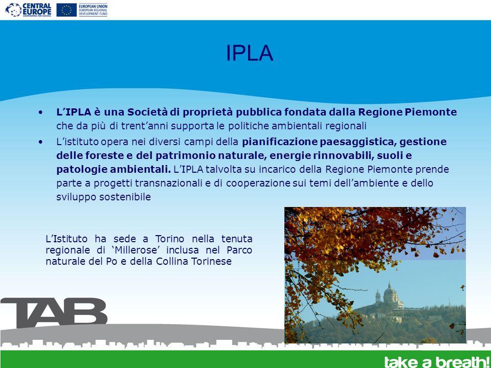 Struttura organizzativa di IPLA Lo staff comprende 53 impiegati: 28 tecnici (geobotanica, fitosociologia, pianificazione faunistica, silvopastorale, forestale e naturalistica, arboricoltura, forestazione urbana, sistemi informativi geografici, ecc) Listituto è organizzato in due aree tematiche, servizi e laboratori Area tecnica Energia e Gestioni Filiera legno, biomasse, energie rinnovabili.