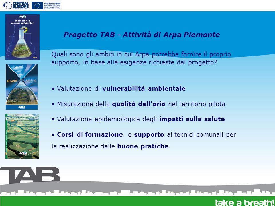 Quali sono gli ambiti in cui Arpa potrebbe fornire il proprio supporto, in base alle esigenze richieste dal progetto? Valutazione di vulnerabilità amb