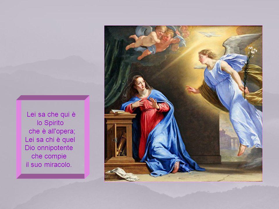 Lei sa che qui è lo Spirito che è all opera; Lei sa chi è quel Dio onnipotente che compie il suo miracolo.
