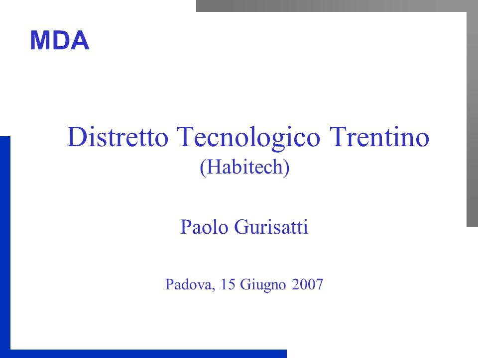 MDA Distretto Tecnologico Trentino (Habitech) Paolo Gurisatti Padova, 15 Giugno 2007