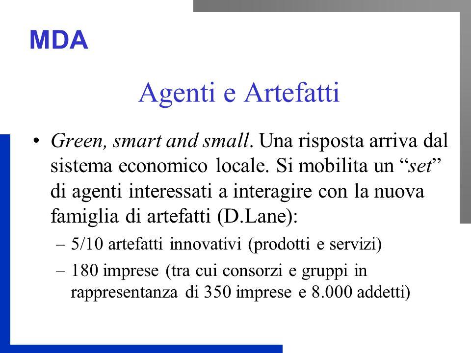 MDA Agenti e Artefatti Green, smart and small. Una risposta arriva dal sistema economico locale.
