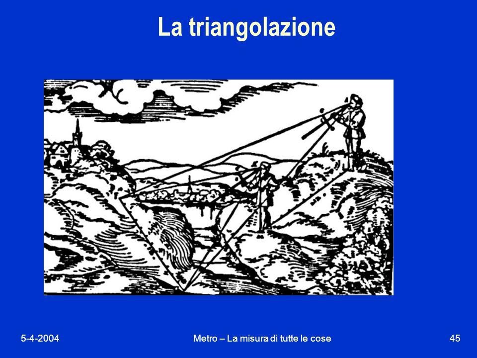 5-4-2004Metro – La misura di tutte le cose45 La triangolazione