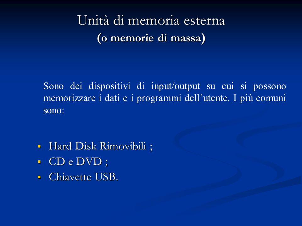 ROM (Reading Only Memory) La ROM (memoria di sola lettura) è una memoria di tipo permanente che contiene i programmi che servono per far avviare il co