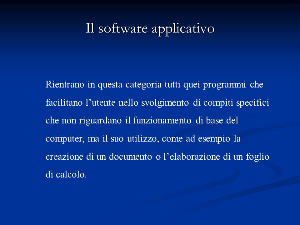 Il software di base Il software di base è essenzialmente costituito dal sistema operativo. Il sistema operativo è linsieme di tutti i programmi che pe