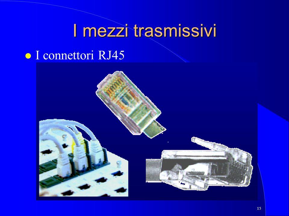 15 I mezzi trasmissivi l I connettori RJ45