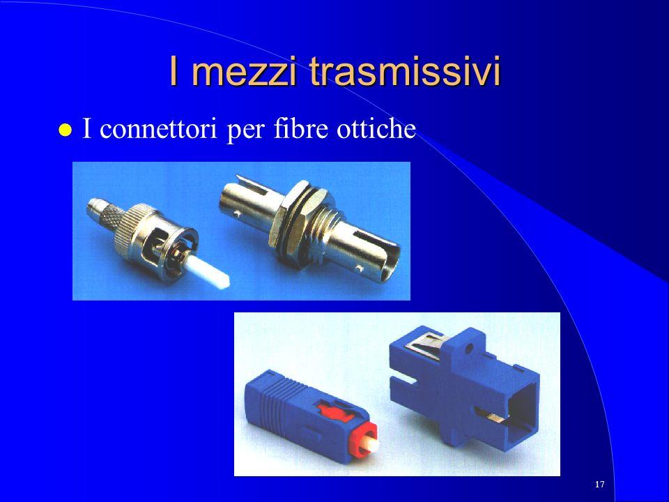 17 I mezzi trasmissivi l I connettori per fibre ottiche
