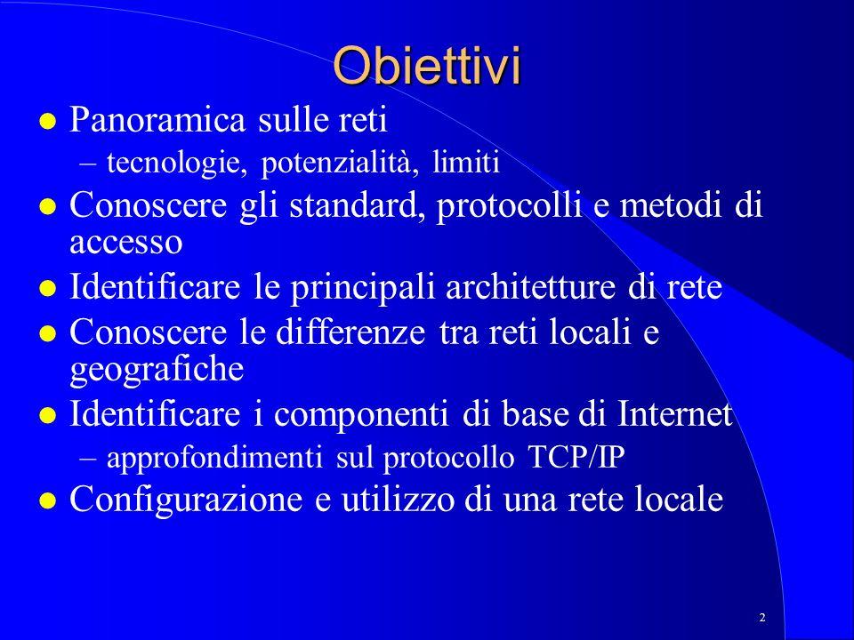 23 Il modello ISO/OSI l Larchitettura a livelli del modello OSI