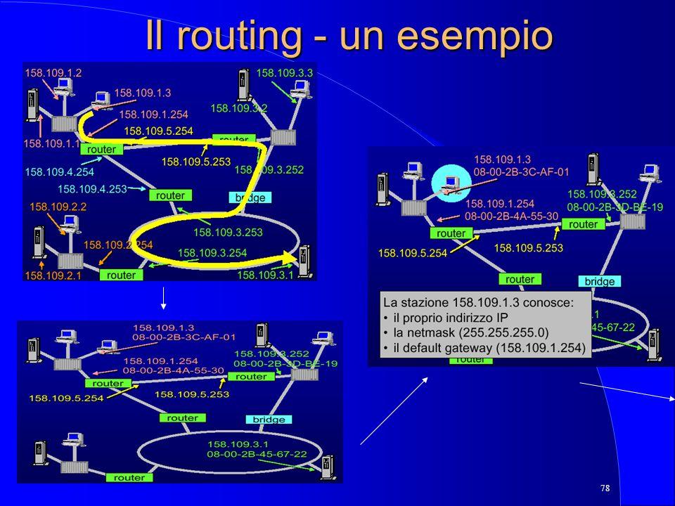 78 Il routing - un esempio
