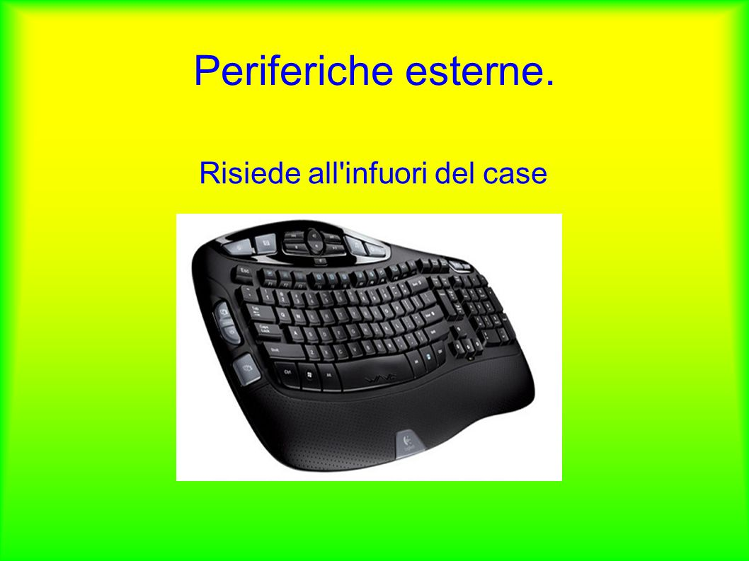Periferiche esterne. Risiede all infuori del case