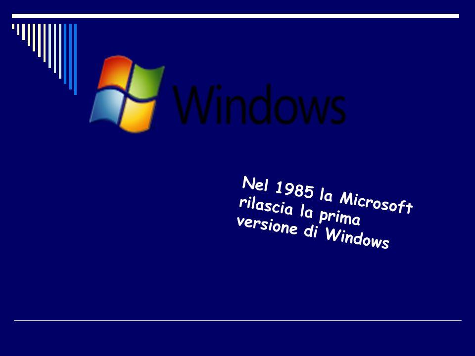 Nel 1985 la Microsoft rilascia la prima versione di Windows