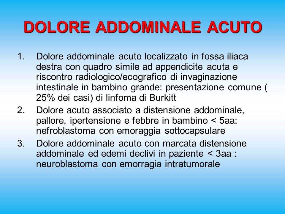 DOLORE ADDOMINALE ACUTO 1.Dolore addominale acuto localizzato in fossa iliaca destra con quadro simile ad appendicite acuta e riscontro radiologico/ec
