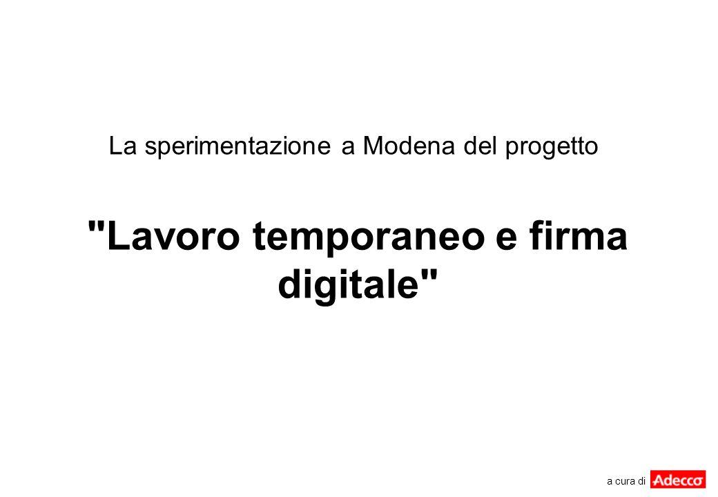 La sperimentazione a Modena del progetto
