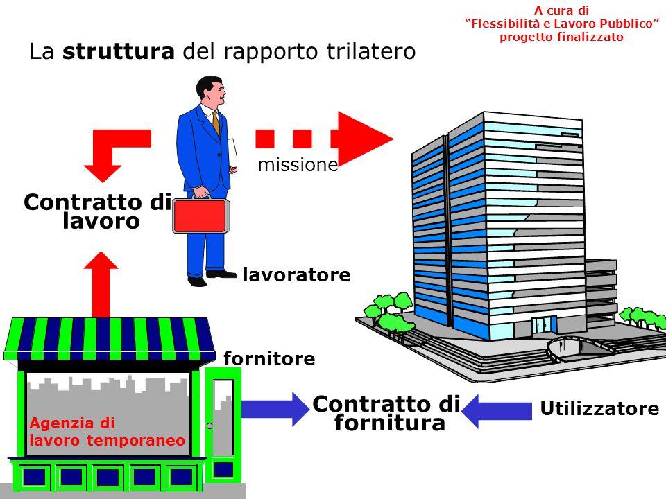 Utilizzatore Fornitore Lavoratore Richiede Invia Rapporto Trilatero A cura di Flessibilità e Lavoro Pubblico progetto finalizzato