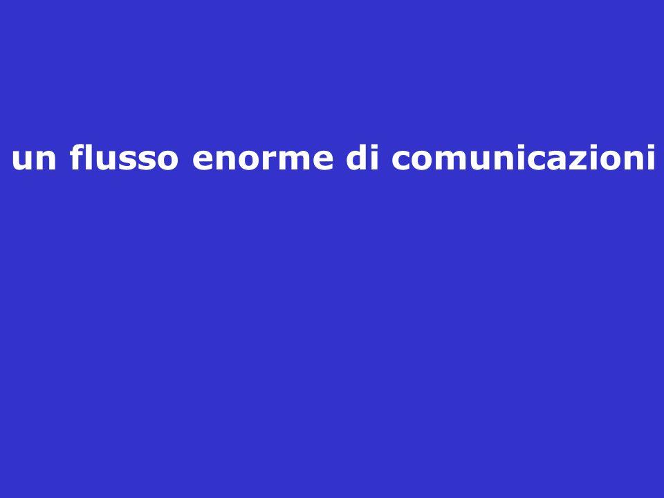 un flusso enorme di comunicazioni