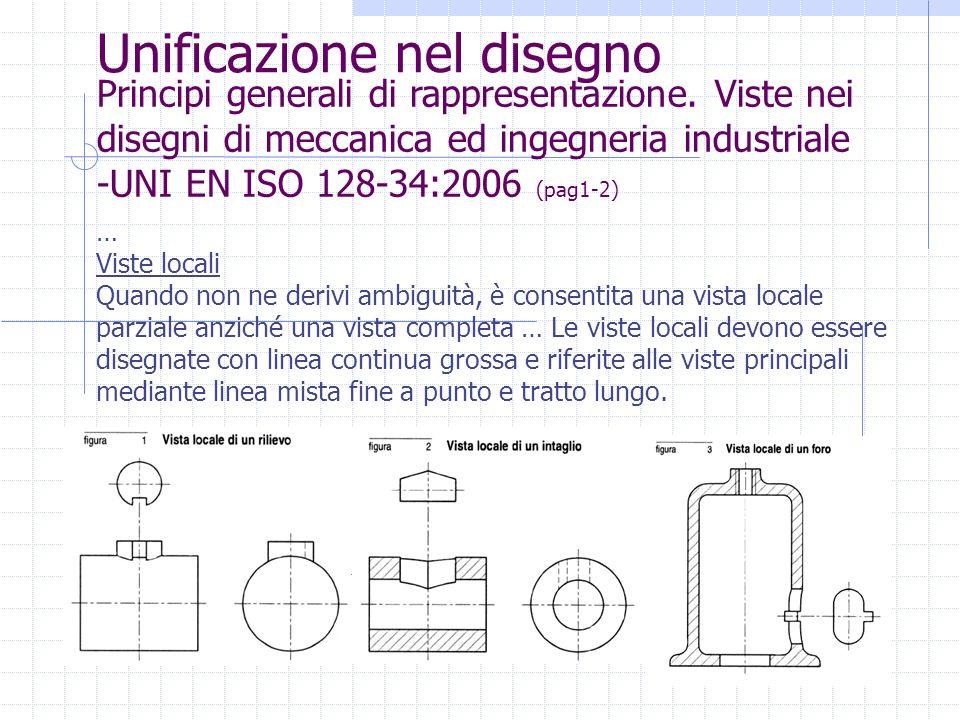 Unificazione nel disegno Principi generali di rappresentazione. Viste nei disegni di meccanica ed ingegneria industriale -UNI EN ISO 128-34:2006 (pag1