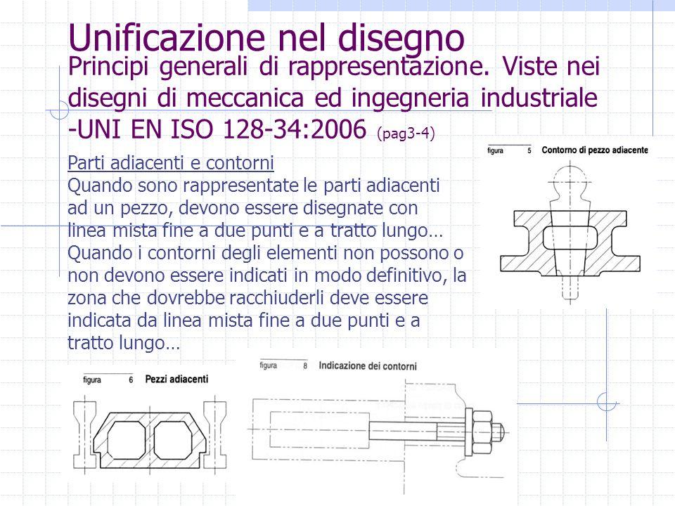 Unificazione nel disegno Principi generali di rappresentazione. Viste nei disegni di meccanica ed ingegneria industriale -UNI EN ISO 128-34:2006 (pag3