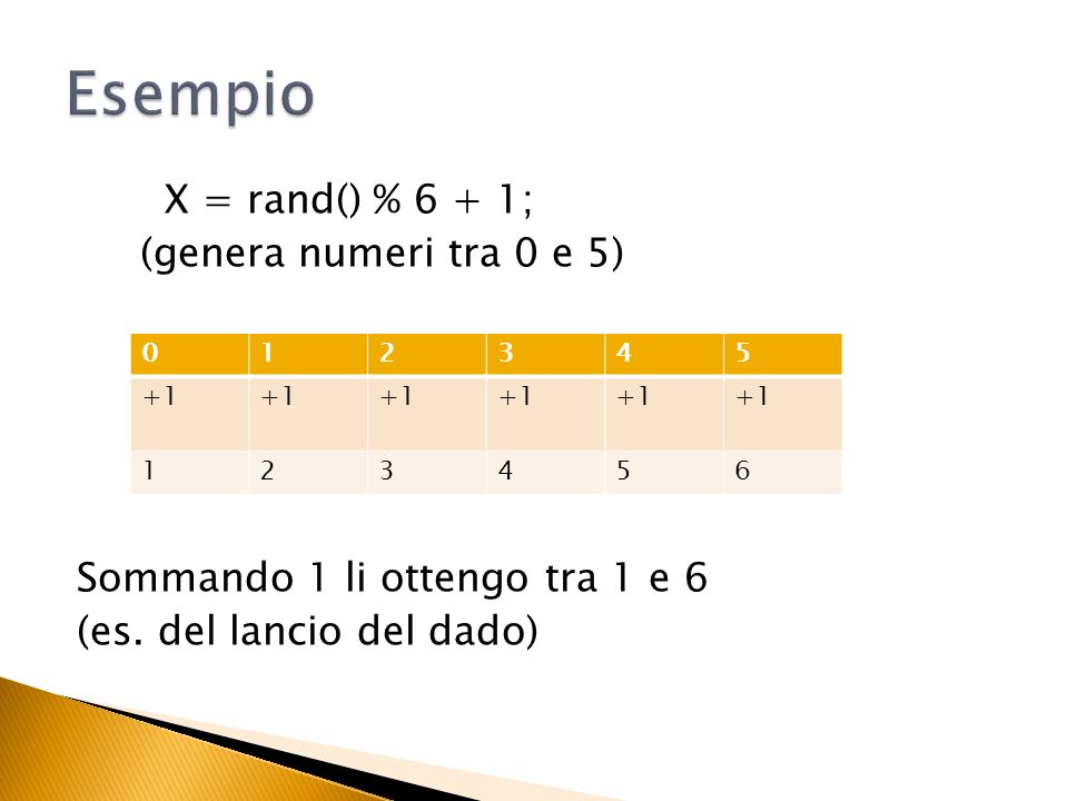 I numeri tra 20 e 30 sono 11 Quindi genero un numero tra 0 e 10 e sommo 20 (se è zero diventa 20, se è 10 diventa 30) 012345678910 + 20 2021222324252627282930