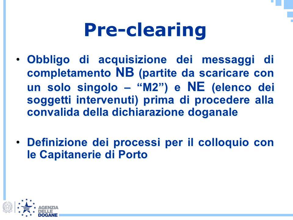 Obbligo di acquisizione dei messaggi di completamento NB (partite da scaricare con un solo singolo – M2) e NE (elenco dei soggetti intervenuti) prima