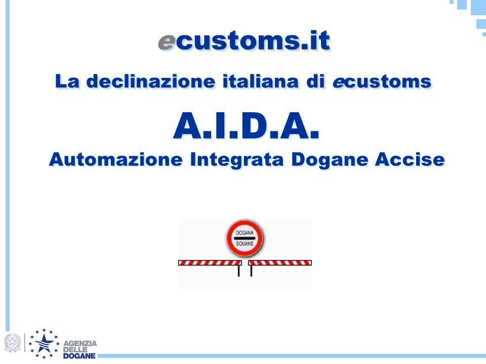 A.I.D.A. Automazione Integrata Dogane Accise e customs.it La declinazione italiana di ecustoms