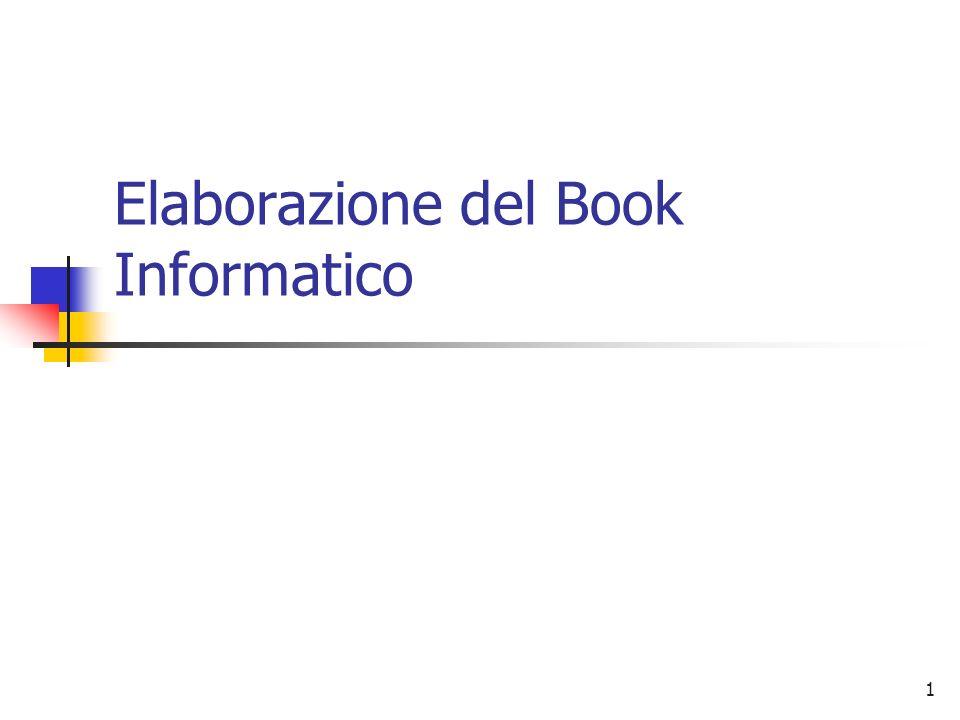 1 Elaborazione del Book Informatico
