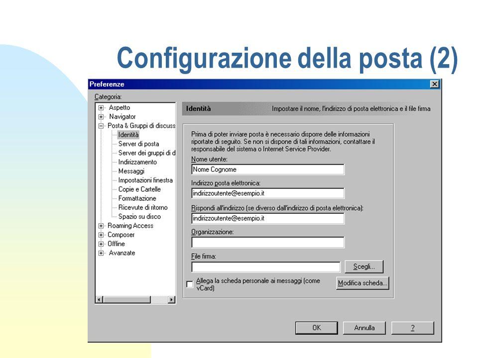 Configurazione della posta (2)