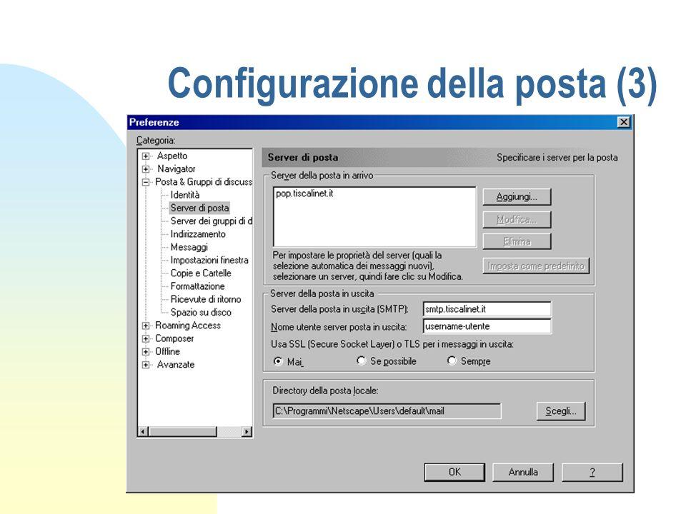 Configurazione della posta (3)
