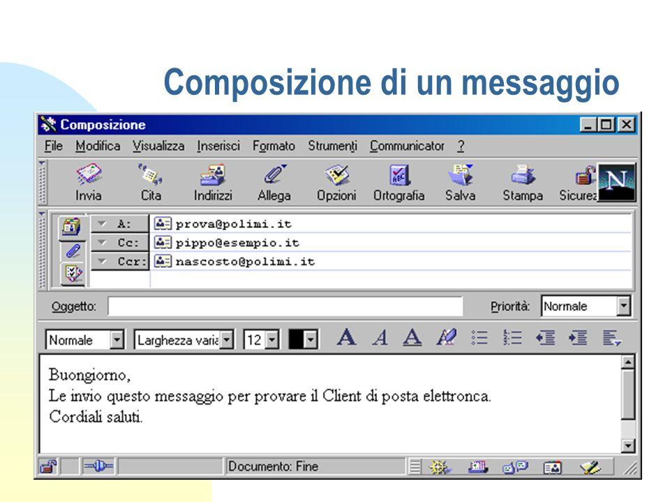 Composizione di un messaggio