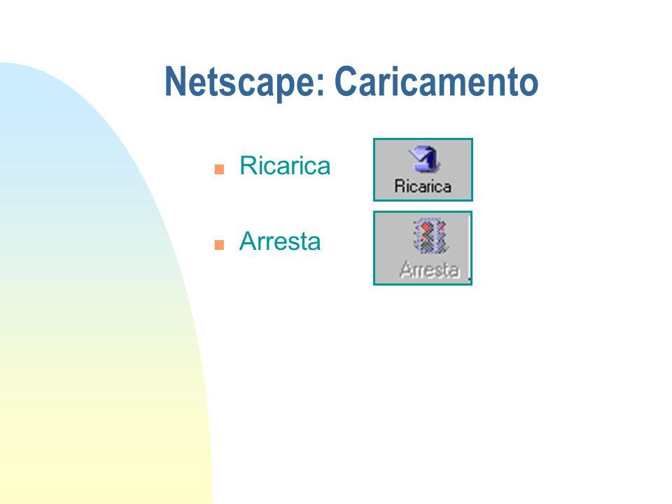 Netscape: Caricamento n Ricarica n Arresta