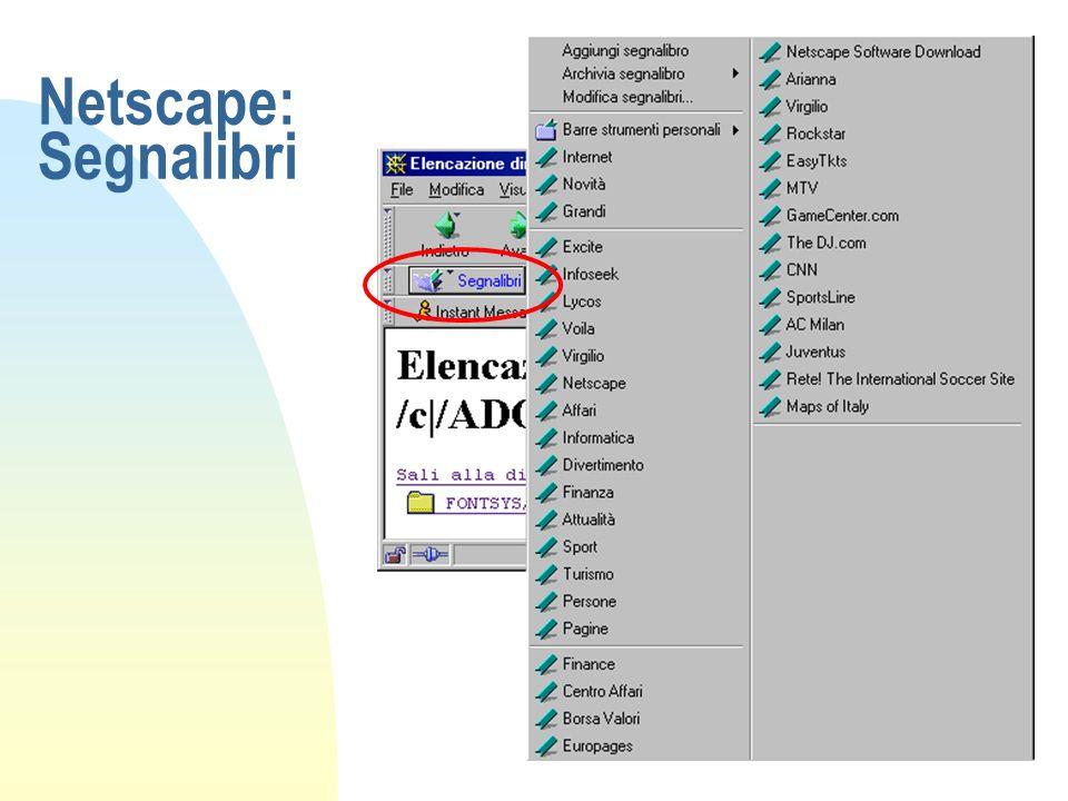 Netscape: Segnalibri
