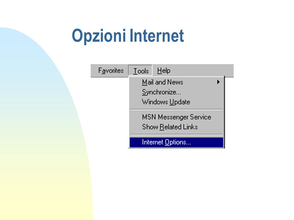 Opzioni Internet